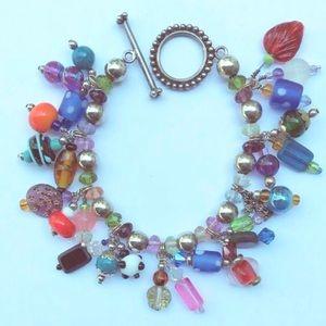 Jewelry - Vintage bohemian rhapsody bead bracelet